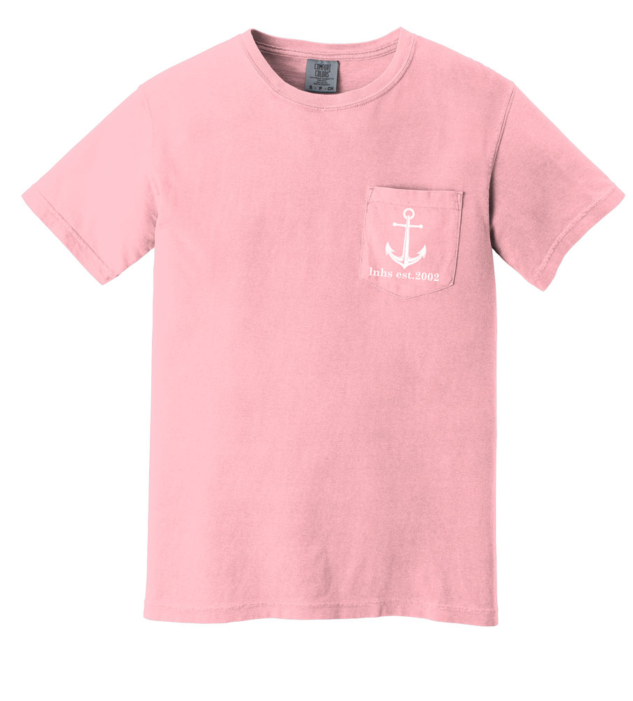 Image of New Anchor Tee on Comfort Colors Tee shirt -Light Pink