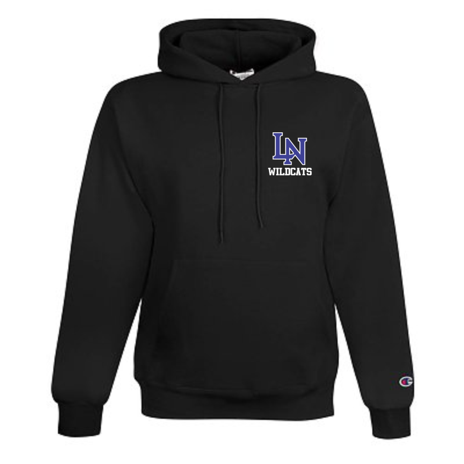 Image of Embroidered Champion Hoodie - Black