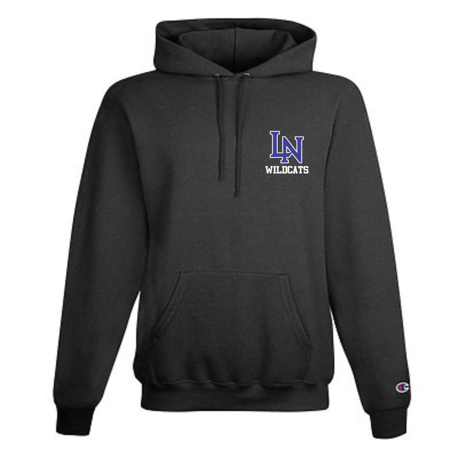 Image of Embroidered Champion Hoodie - Charcoal Heather