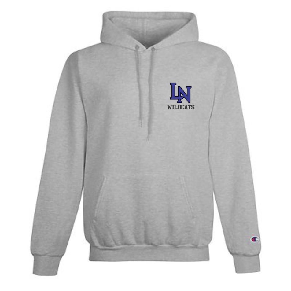 Image of Embroidered Champion Hoodie -  Sport Gray