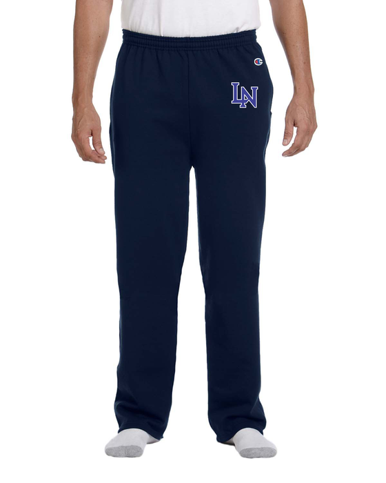 Image of Embroidered Champion Sweatpants - Navy Blue