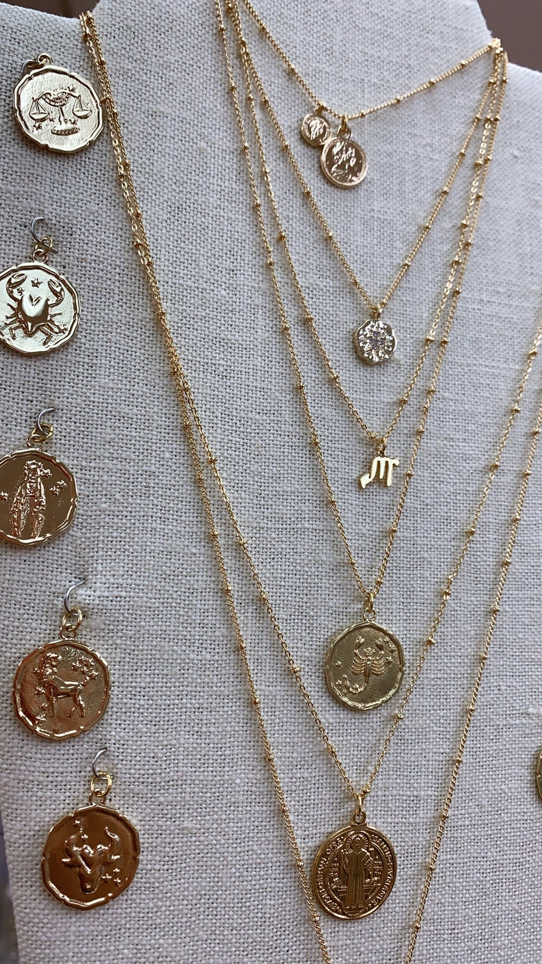 Image of Zodiac Coin Necklace (pls read description)