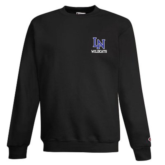 Image of Embroidered Champion Crewneck Sweatshirt - Black