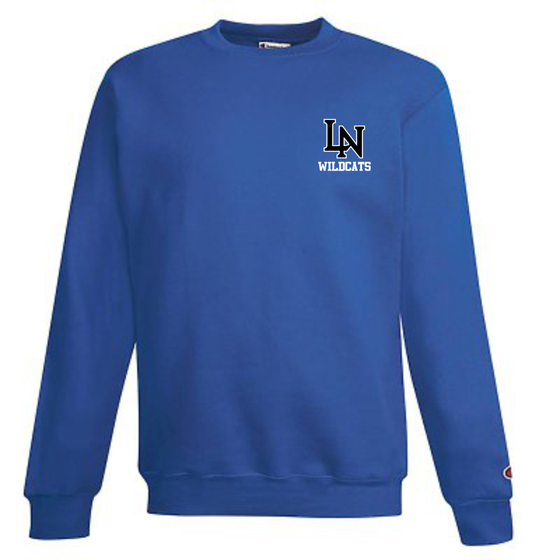 Image of Embroidered Champion Crewneck Sweatshirt - Royal