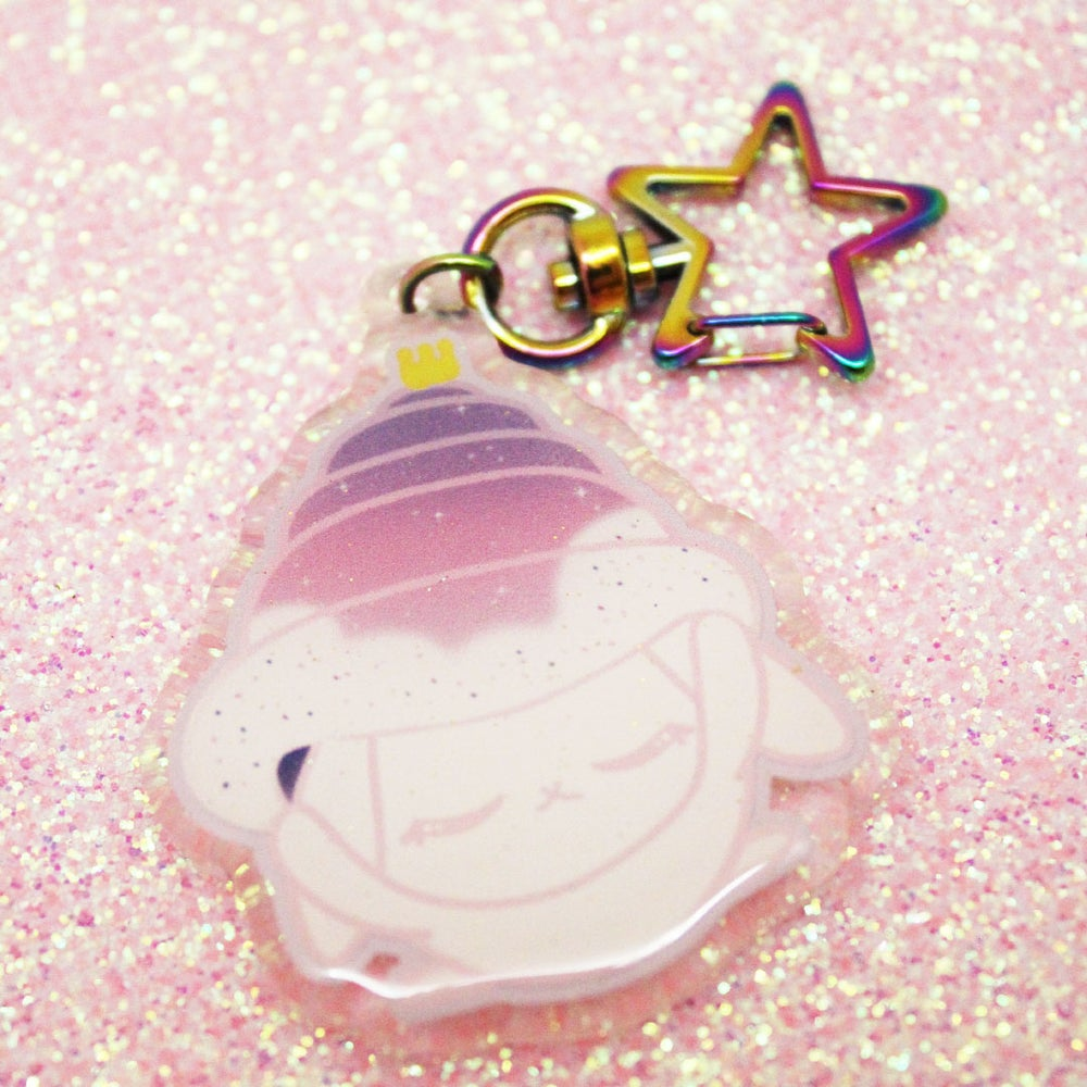 Image of Space Bun keychain