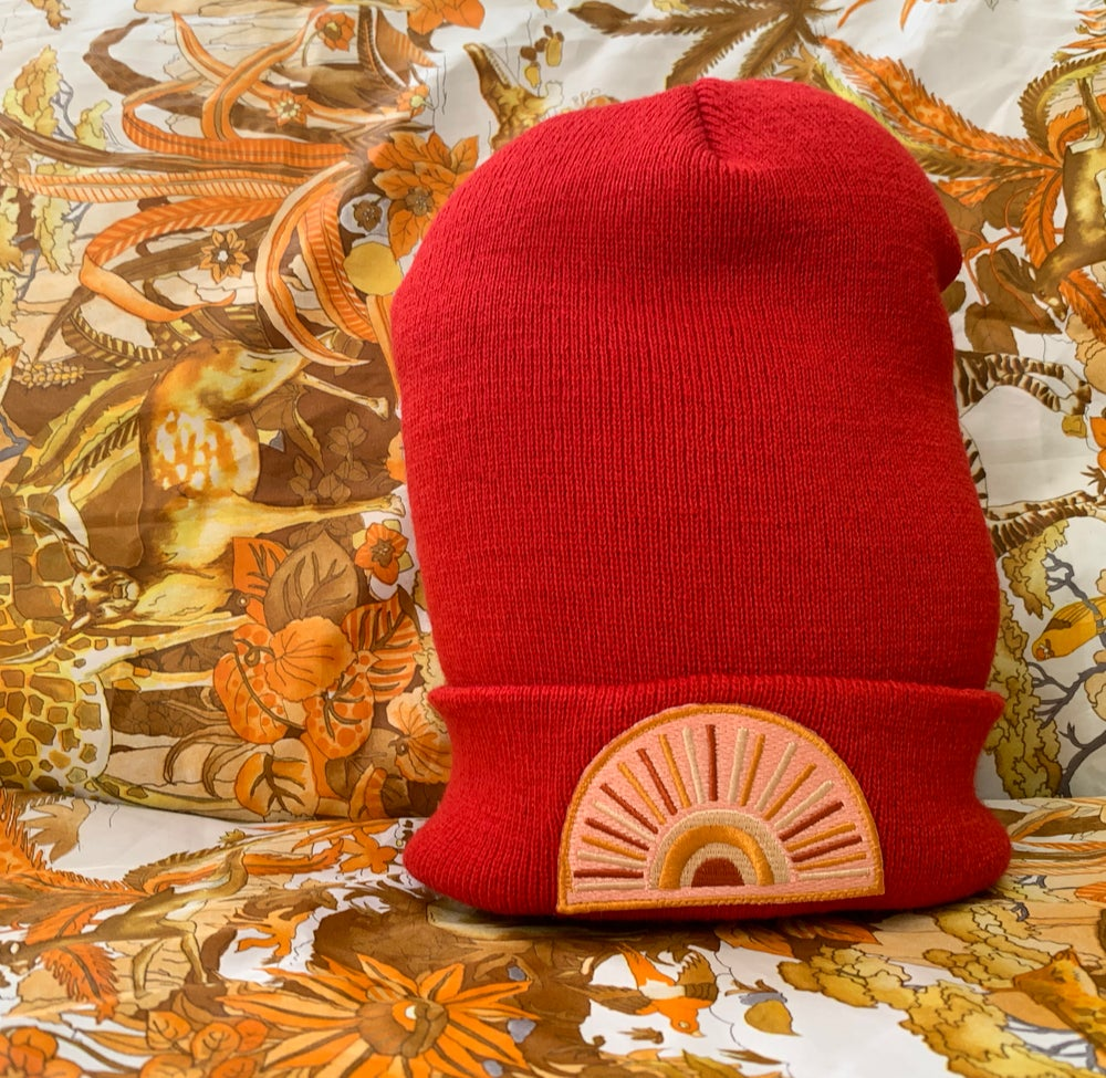 Image of Pink Sun Beanie