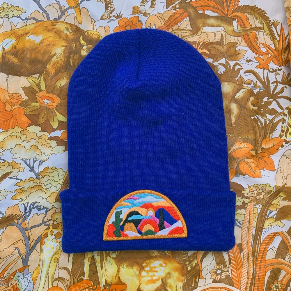 Image of Imaginary Landscape Beanie - Royal Blue