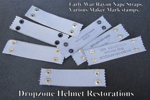 Image of Reproduction Rayon Nape Straps. Early War type.