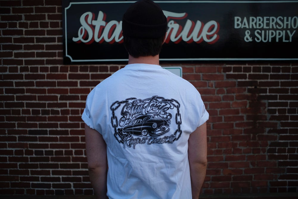 Image of Stay True X Nick Flanagan Shoebox tee