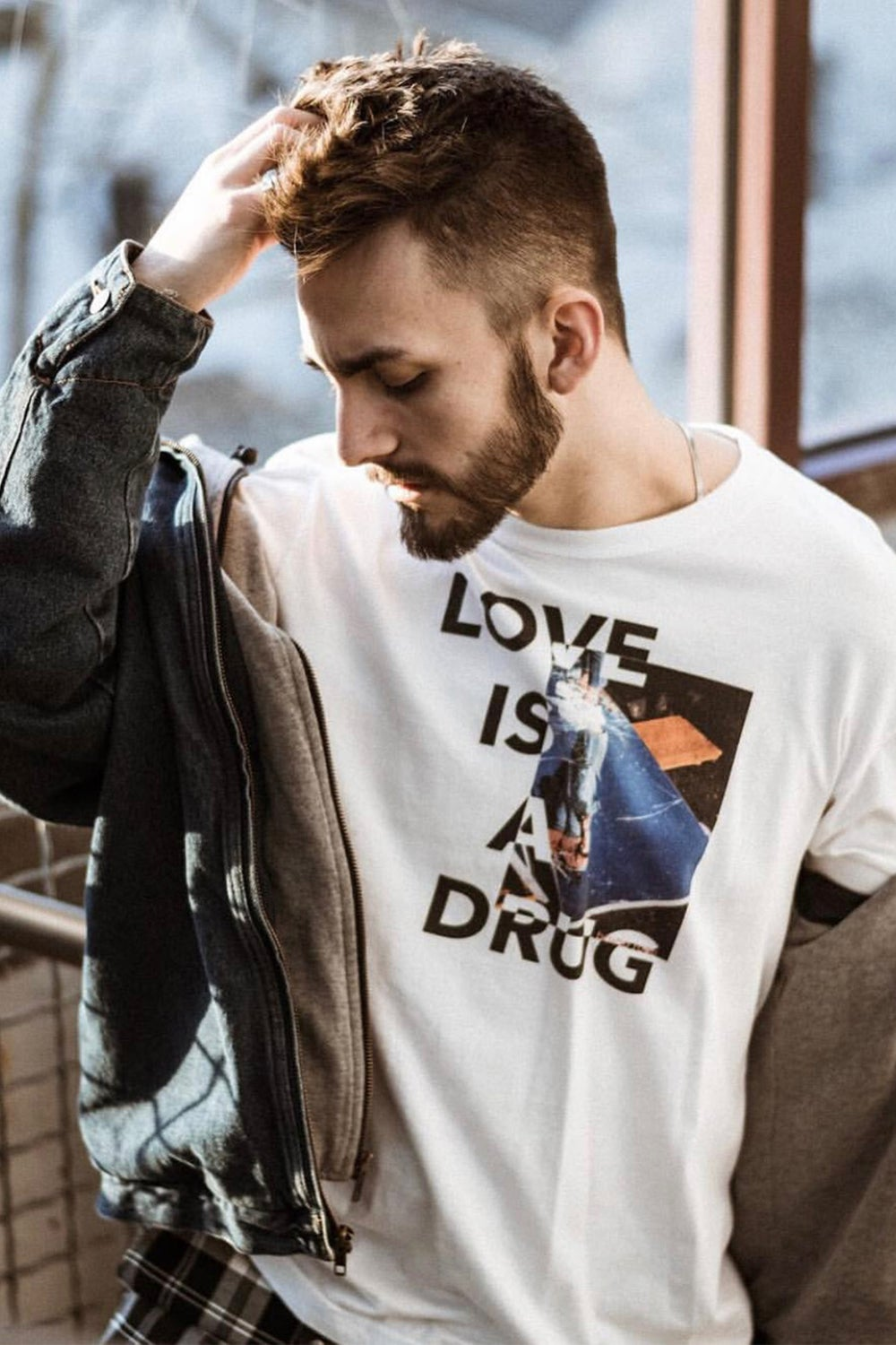 Image of 'LOVE IS A DRUG' LONG SLEEVE TEE