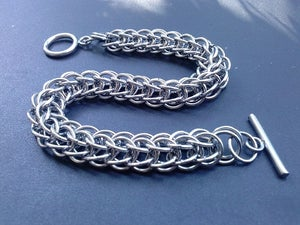 Image of Bracelet, Chainmaille, Stainless Steel, Full Persian 6:1 Chain