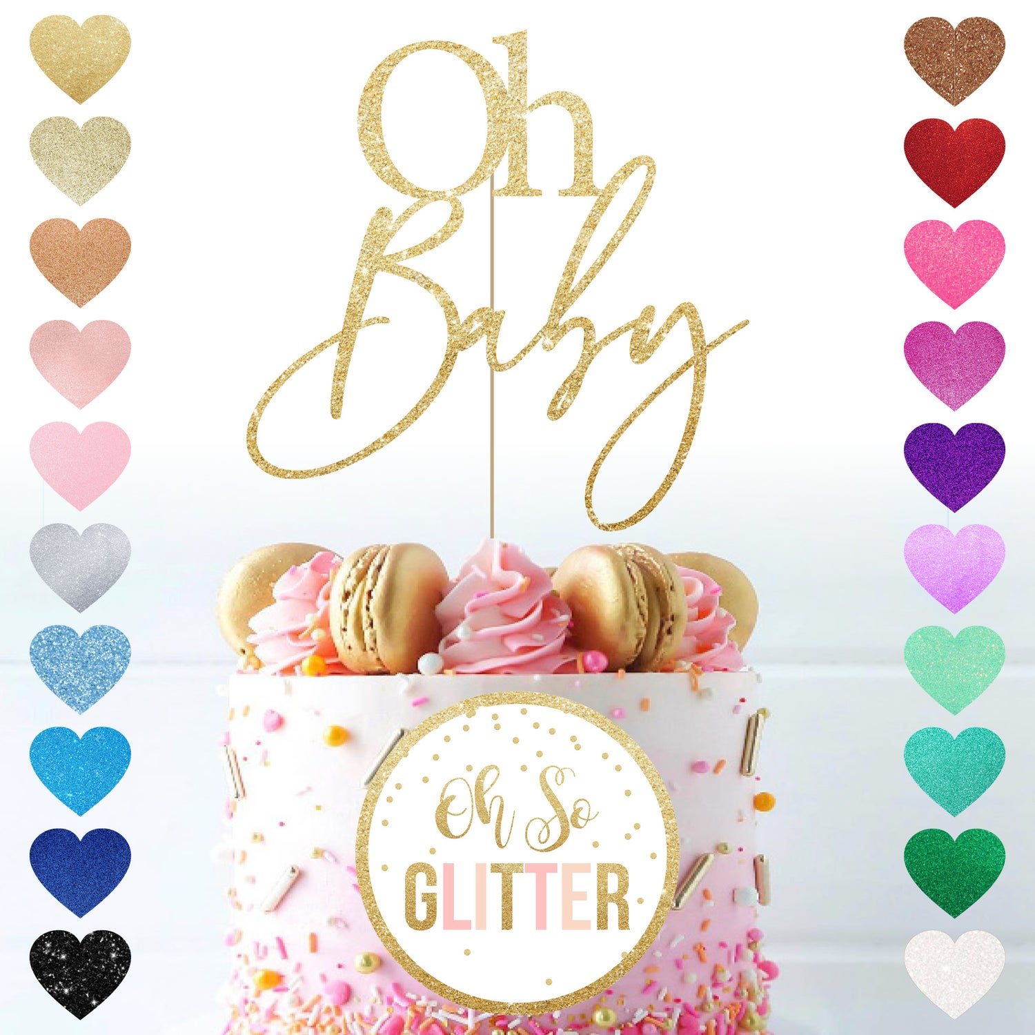 Image of Oh Baby Cake Topper
