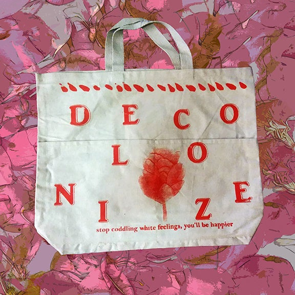 Image of Decolonize Canvas Tote w/ pockets