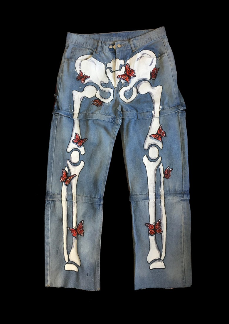 Image of BONES BUTTERFLY JEANS