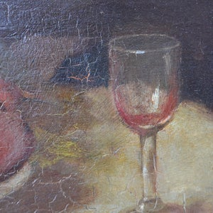 Image of 1906, French, Still Life painting,' Plums and Port.'