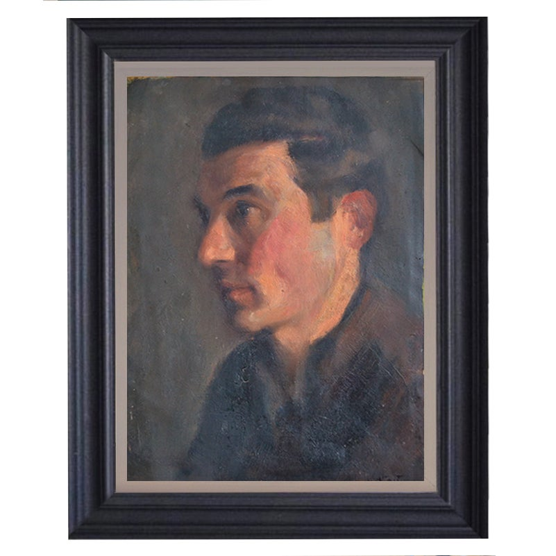 Image of Mid-Century, Self-portrait Painting,  Augustin Memin (1910-1981)