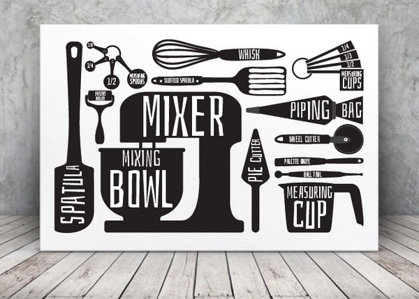 Image of Baking - Tools of my trade Print
