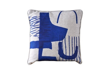 Image of 'Assemble / Configure' Cushion - Cobalt Blue ~ 45 x 45