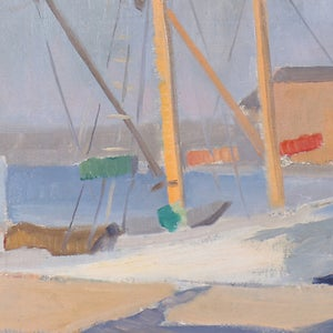 Image of 1942, Swedish Painting, 'Stockholm,' Eira Thelander