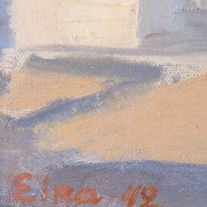 Image of 1942, Swedish Painting, 'Stockholm,' Eira Thelander