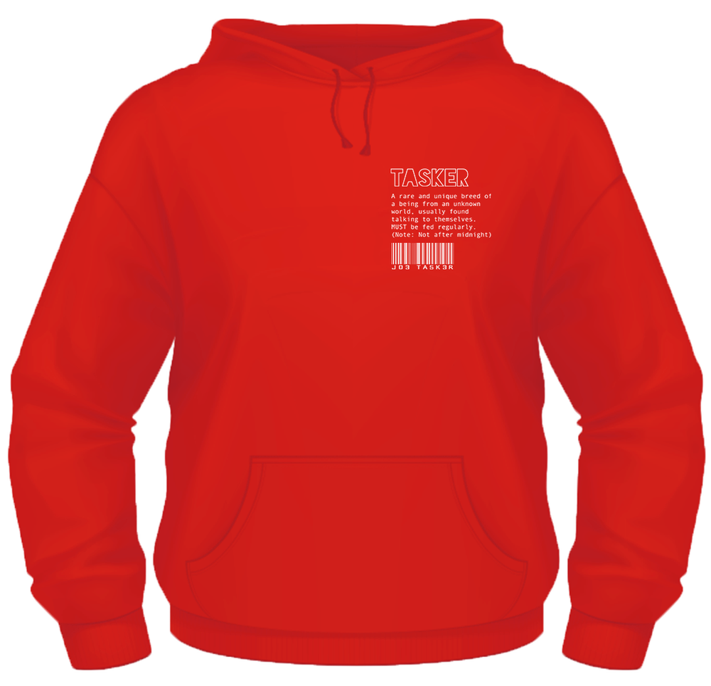Image of Red 'Tasker/Co' Hoodie