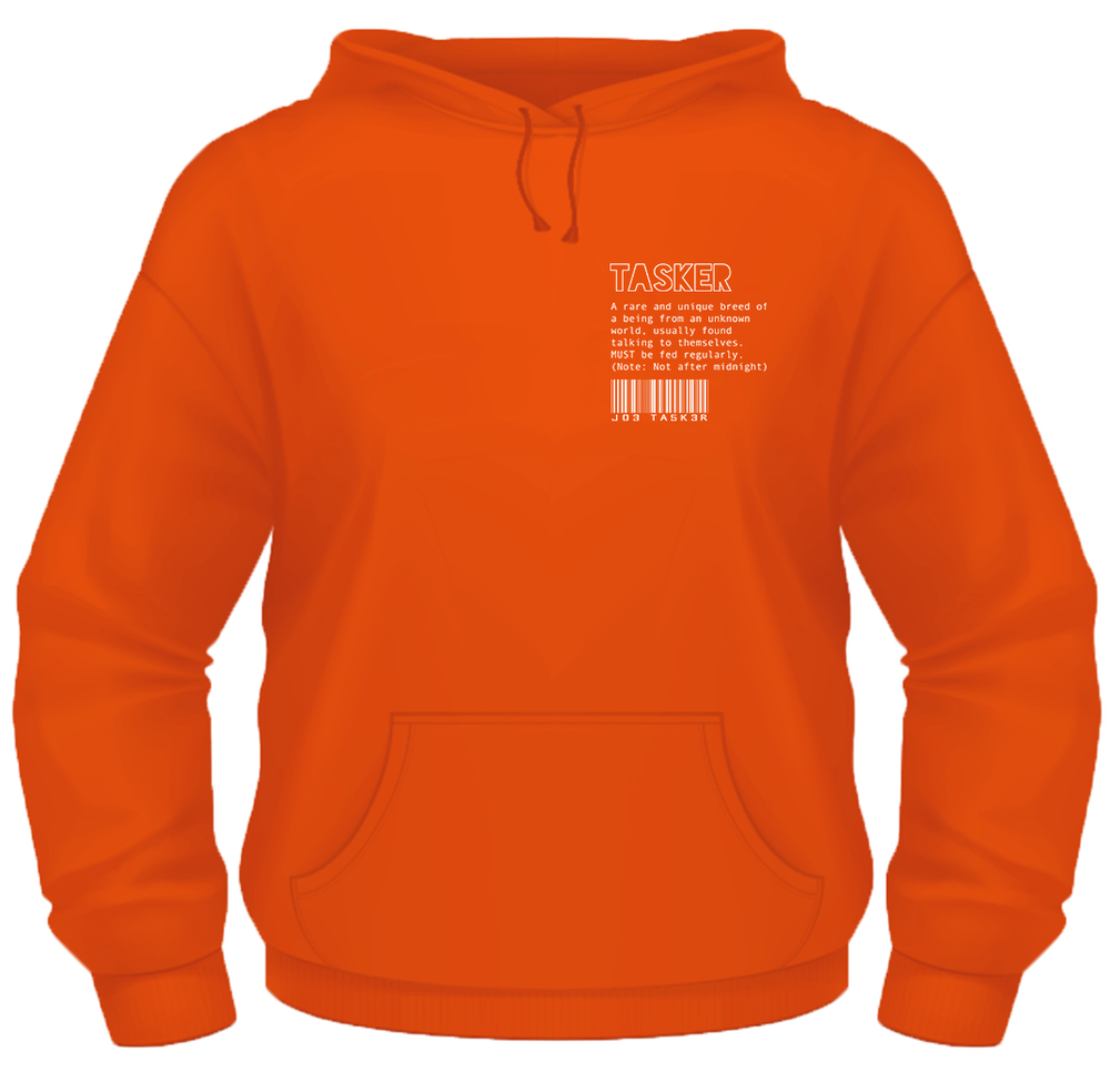 Image of Orange 'Tasker/Co' Hoodie