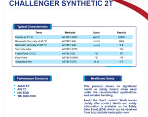 Image of CHALLENGER SYNTHETIC 2T