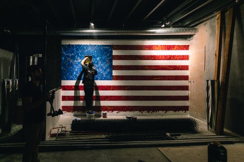 Image of AMERICAN FLAG MURAL (CHOP & HOPS FTL)
