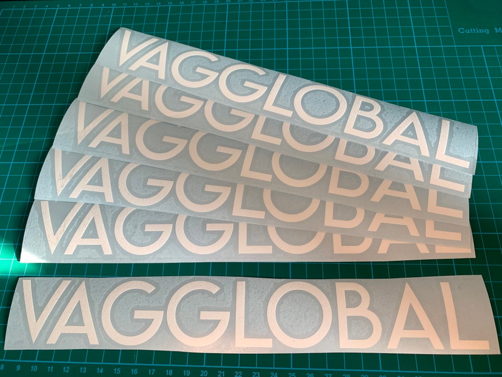 Image of VAGGlobal Supporter Gloss White Sticker (Large)