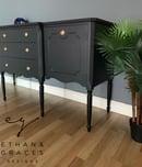 Image 4 of A stunning dark grey & black wooden sideboard.