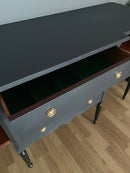 Image 5 of A stunning dark grey & black wooden sideboard.