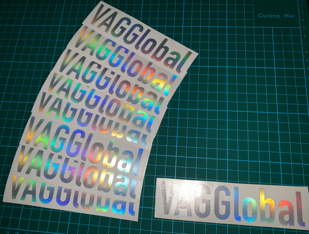 Image of VAGGlobal Supporter Oilslick Sticker (Small)