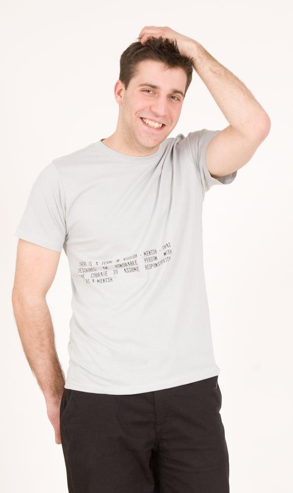 """Image of T-Shirt """"Yiddish Mentsh"""""""