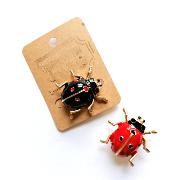 Image of Ladybird Enamel Brooch Pin