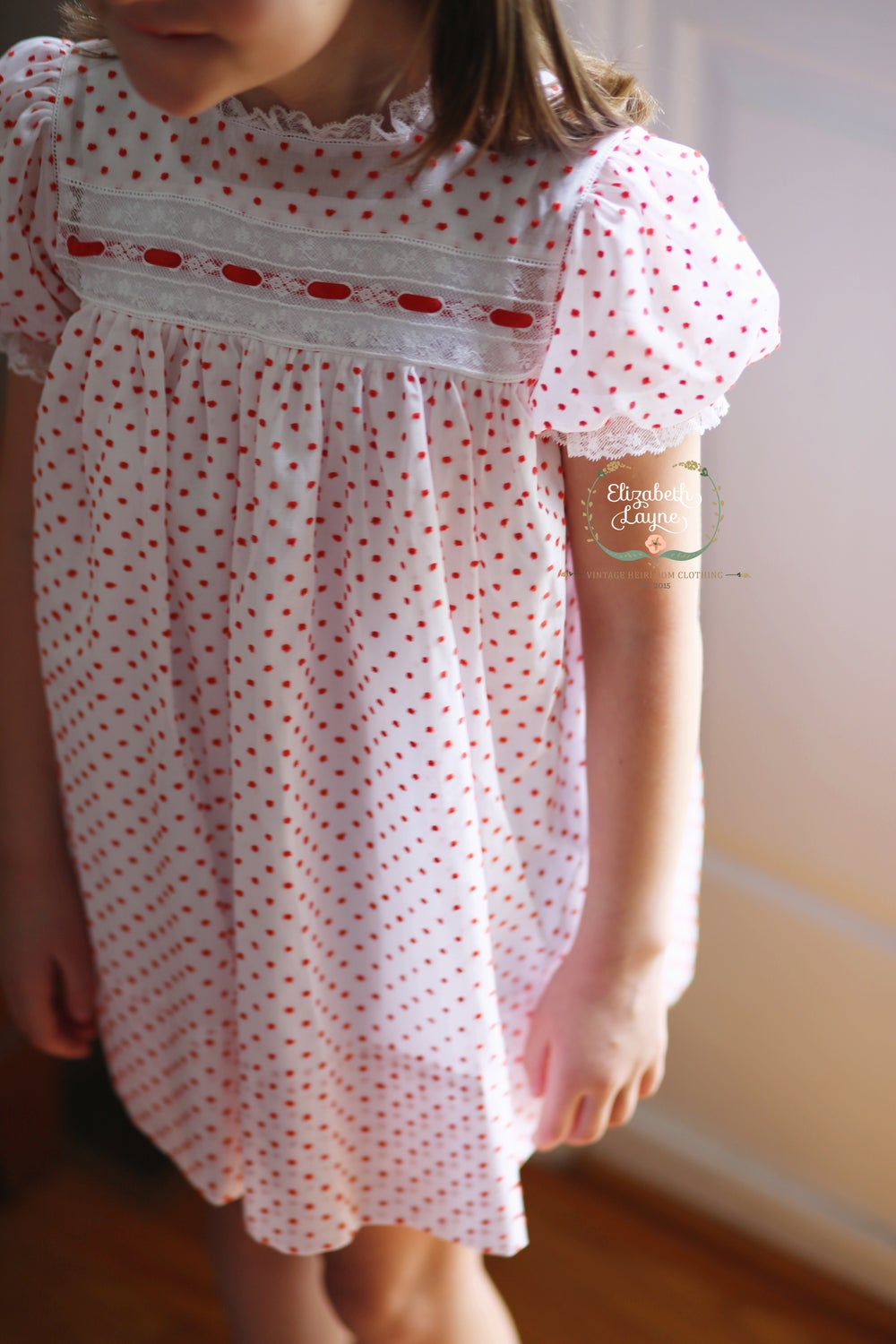 Image of Christmas Dotted Swiss 'Sutherland' Heirloom Dress & Bubble