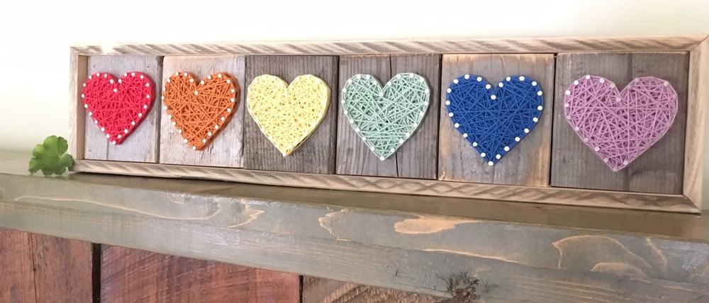 Image of Rainbow Hearts