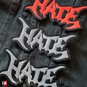 HATE sewing diecast edged logo patch