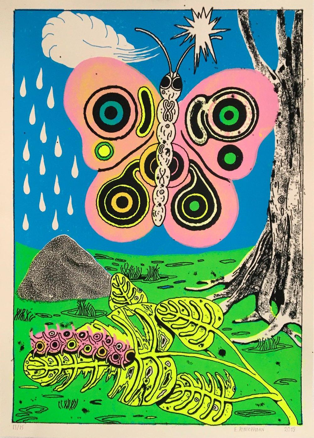 Image of Buttafly- Print by erik Pontoppidan