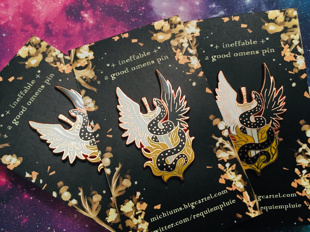 Image of ineffable / good omens pin