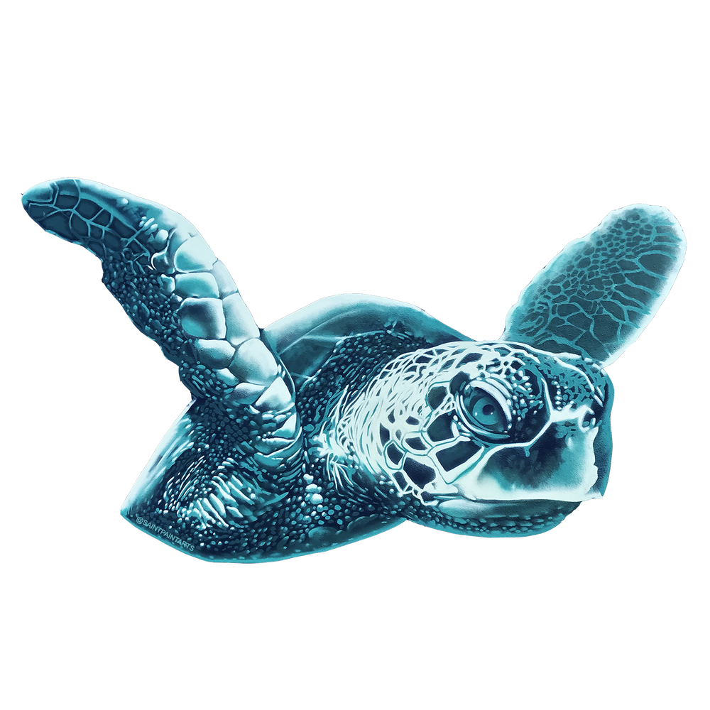 "Image of Turtle Love 4"" vinyl sticker"