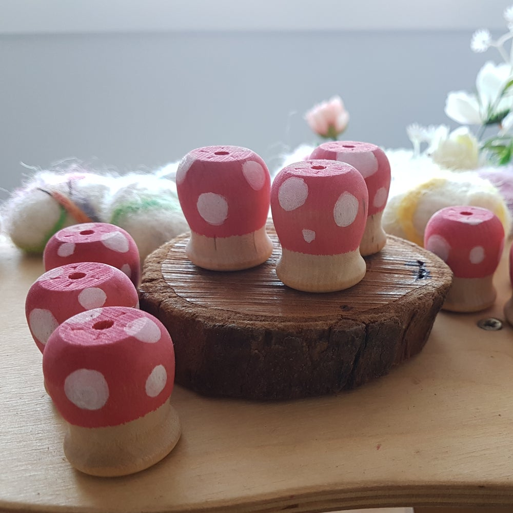 Image of Wooden Toadstools
