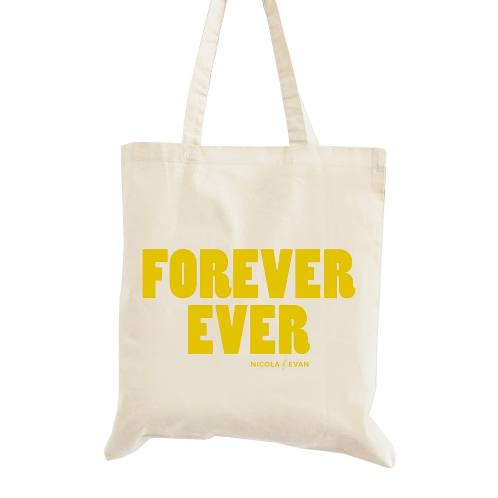 Image of Forever Ever Wedding Welcome Tote Bag