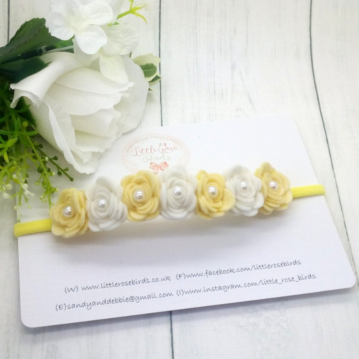 Image of Alternating Classic 7 Rose Headband
