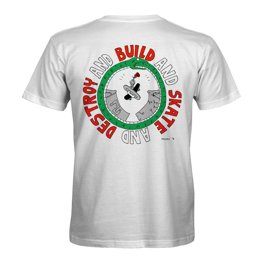 "Image of Confusion - ""Build and Skate and Destroy"" t-shirt [white]"