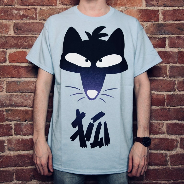 Image of Kanji Fox Shirt - Blue