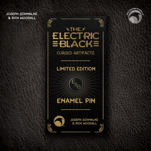 Image of The Electric Black: SIGNED Limited Edition Logo enamel pin!