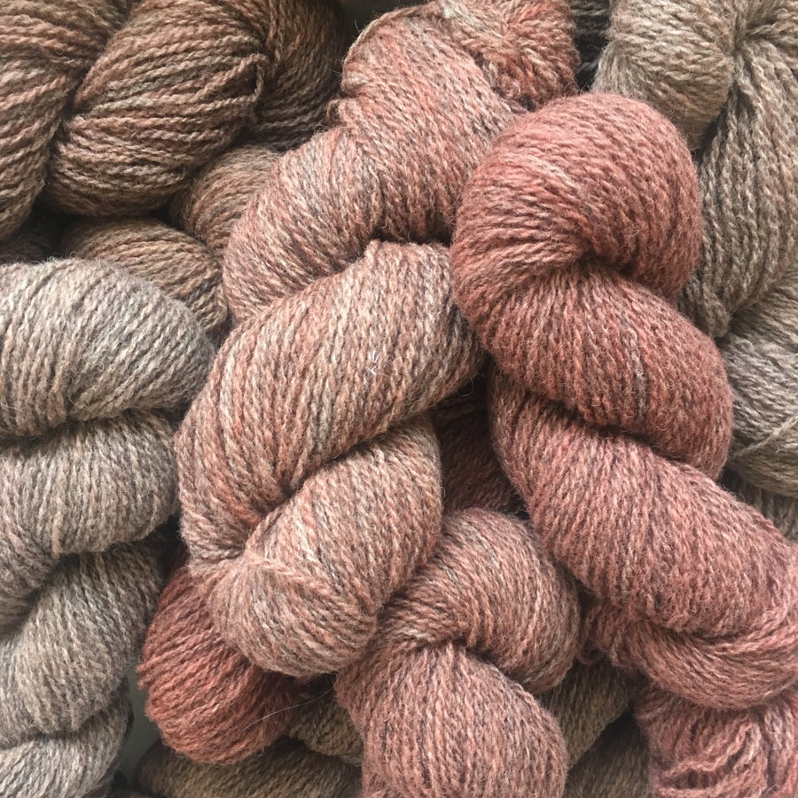 Image of Naturally Dyed Knitting Yarn- Burgandy Pink