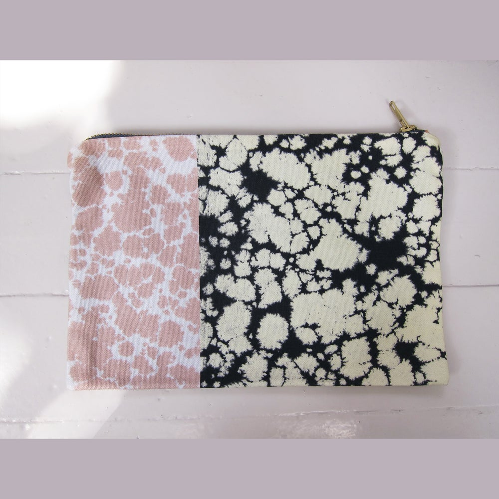 Image of Printed textile clutch, large # 4