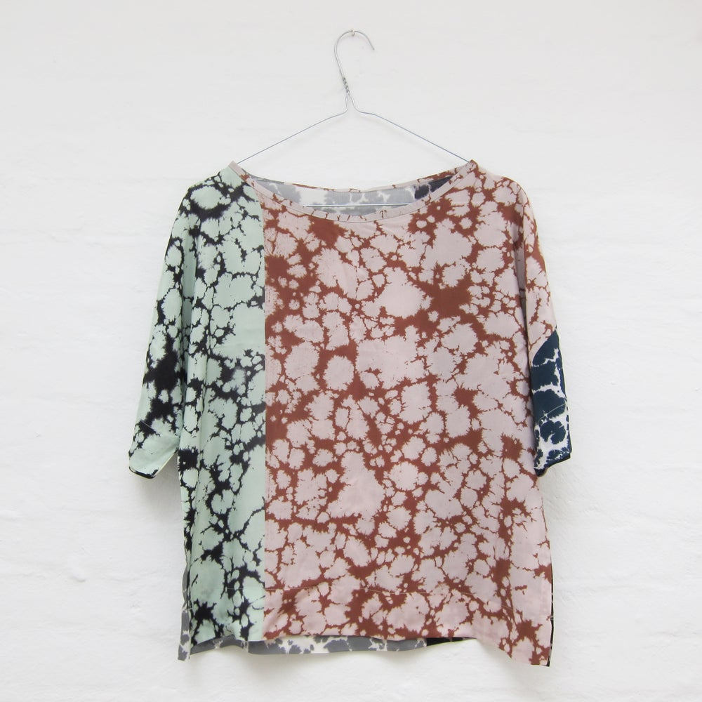 Image of Marbled silk blouse # 1