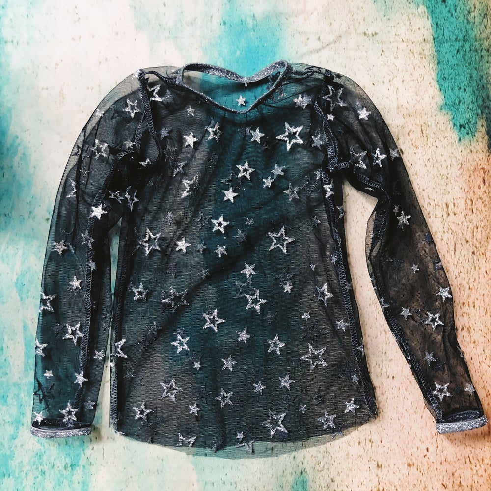 Image of Glitter Star sheer top